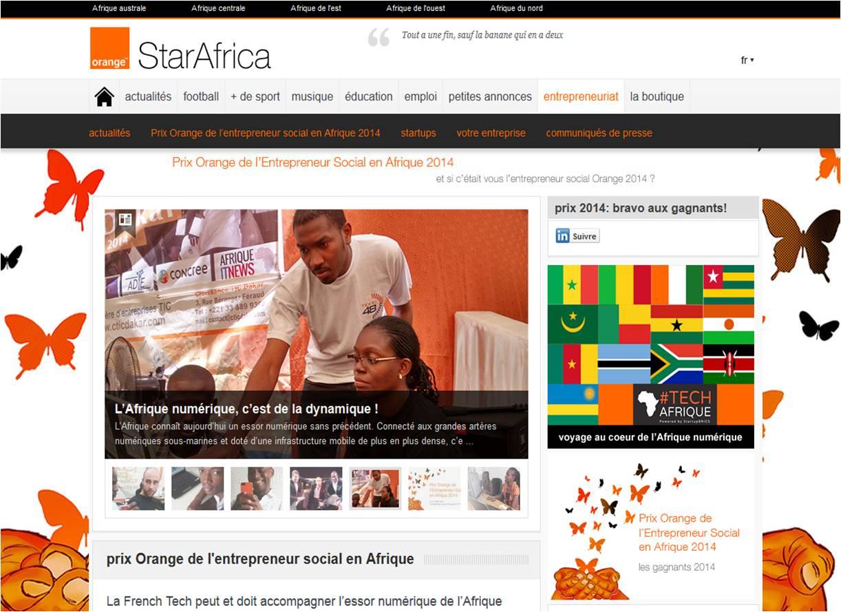 #TECHAfrique & Orange pour les startups en Afrique !